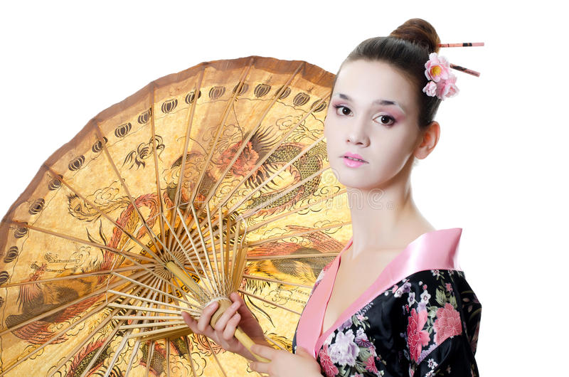 Download The Beautiful Girl With A Make-up Of The Japanese Stock Photo - Image: 25645736