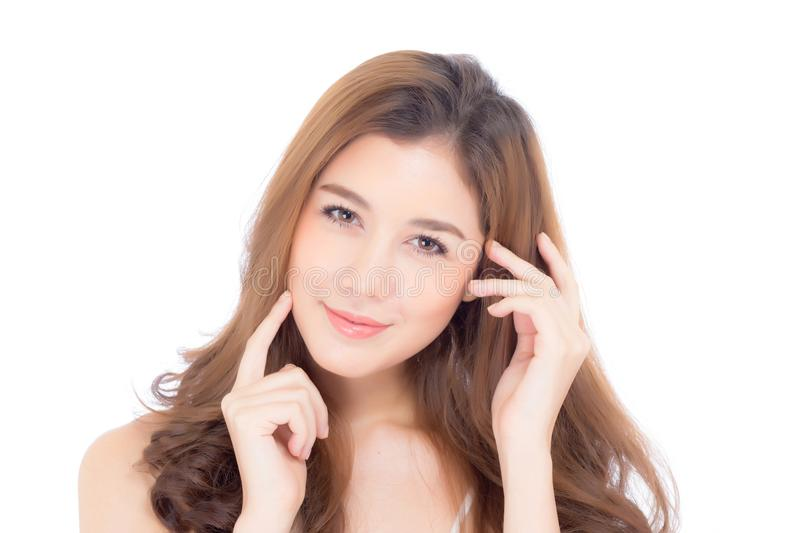 Beautiful girl with makeup, woman and skin care cosmetic concept royalty free stock images
