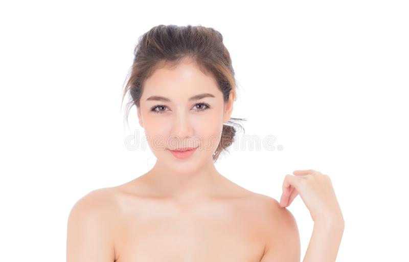 Beautiful girl with makeup, woman and skin care cosmetics concept. Beautiful girl with makeup, woman and skin care cosmetics concept / attractive asia girl on royalty free stock photo