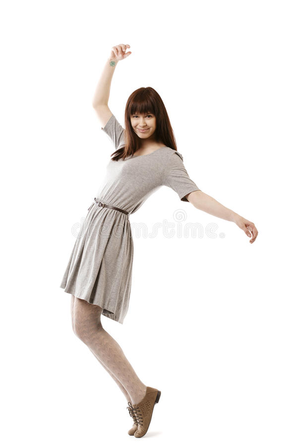 Download Beautiful girl in motion stock image. Image of female - 31109015