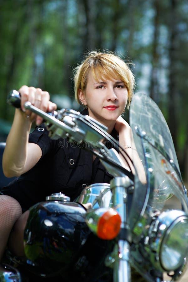 Download Beautiful Girl On Motorcycle Stock Photo - Image: 14806760