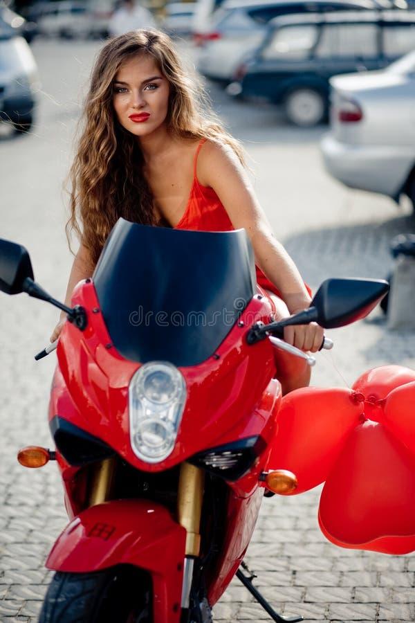 Download Beautiful Girl On Motorcycle Stock Image - Image: 6176853