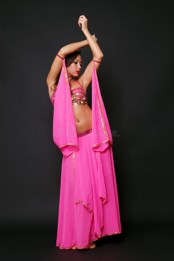 Beautiful girl in oriental costume royalty free stock photos