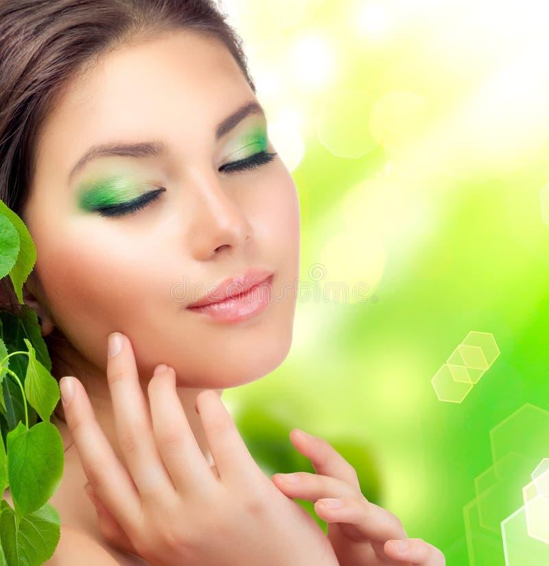 Download Beautiful Girl outdoors stock image. Image of make, cosmetics - 21743095