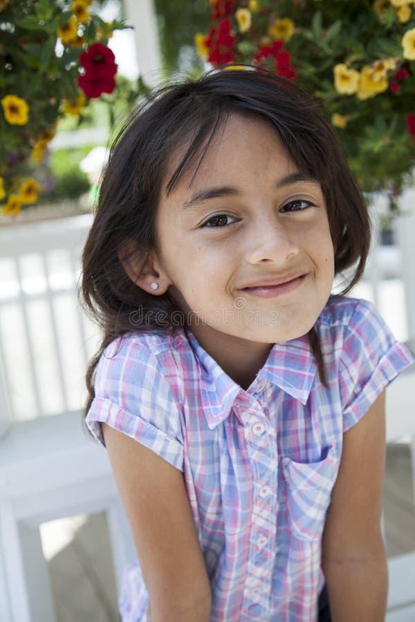 Beautiful girl outside smiling royalty free stock image