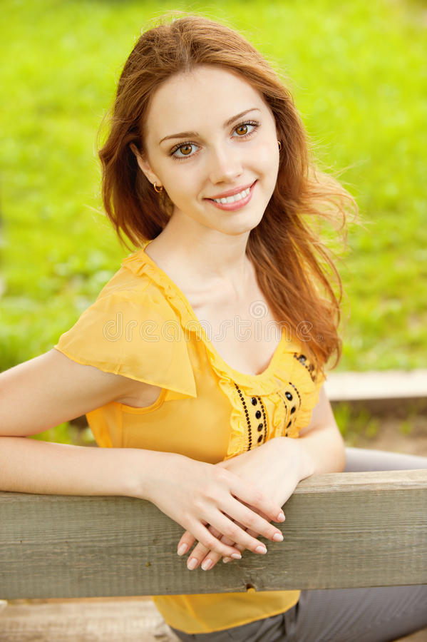 Download Beautiful girl in the park stock image. Image of blurred - 19128473