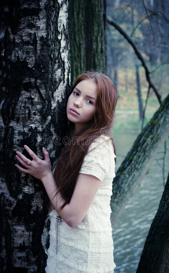 Beautiful Girl In Park Royalty Free Stock Photography
