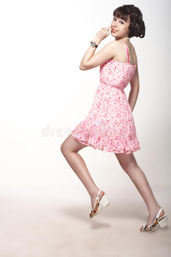 Download Beautiful Girl In A Pink Dress Stock Photo - Image: 25895348