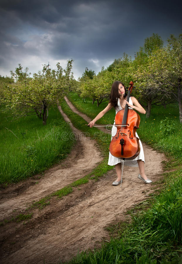 Download Beautiful Girl Playing The Cello Stock Photo - Image: 18978956
