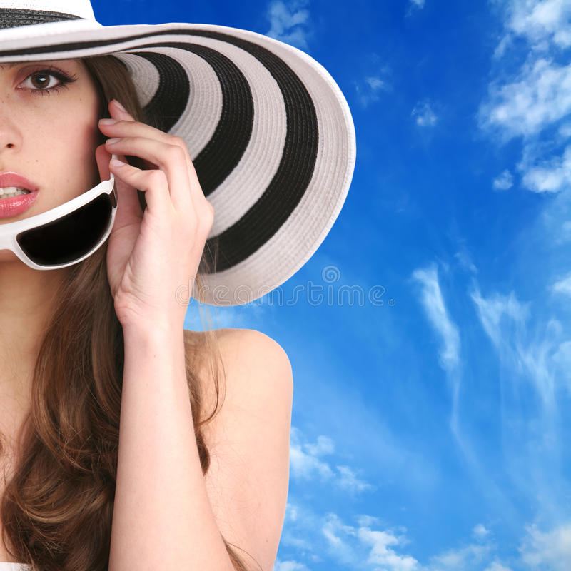 Download Beautiful girl portrait stock image. Image of accessory - 12900269