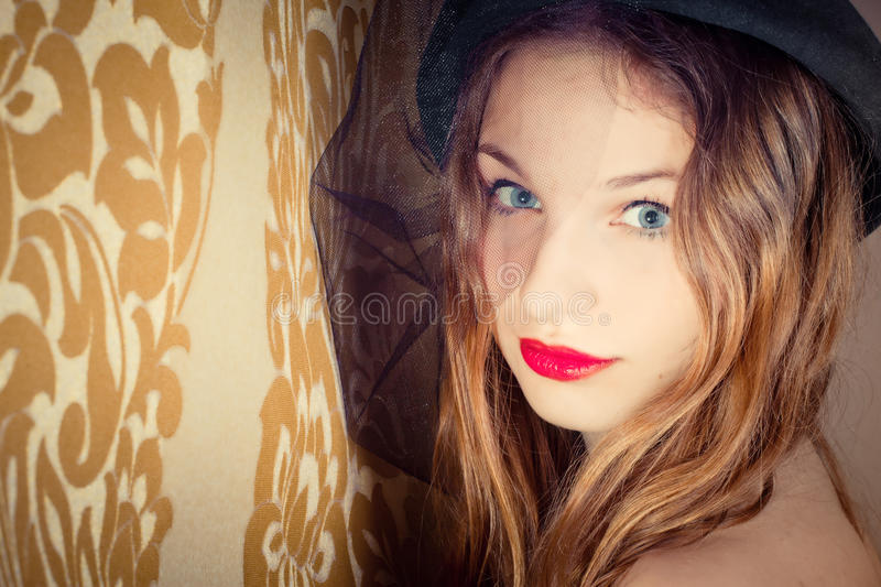 Beautiful girl portrait stock photography