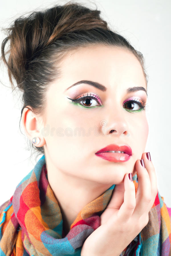 Download Beautiful girl portrait stock image. Image of cosmetic - 20315339