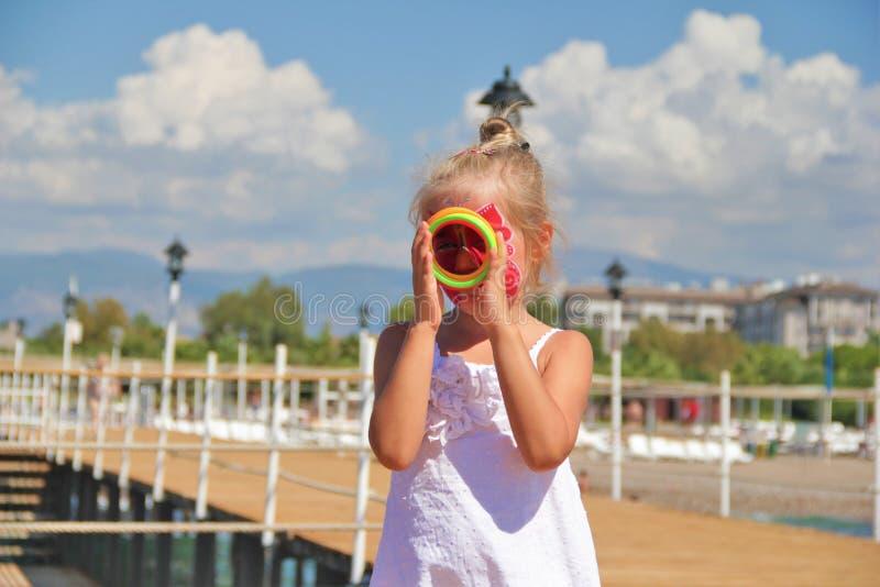 Beautiful girl. Portrait close-up of child models emotion good mood stock photos