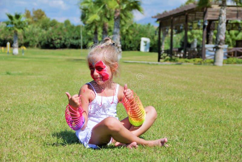 Beautiful girl. Portrait close-up of child models emotion good mood stock image