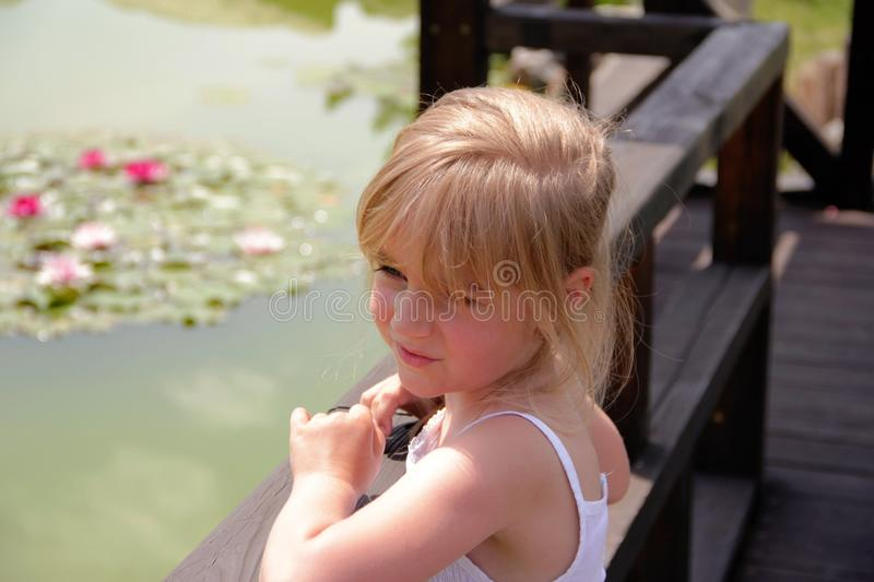 Beautiful girl. Portrait close-up of child models emotion good mood royalty free stock images