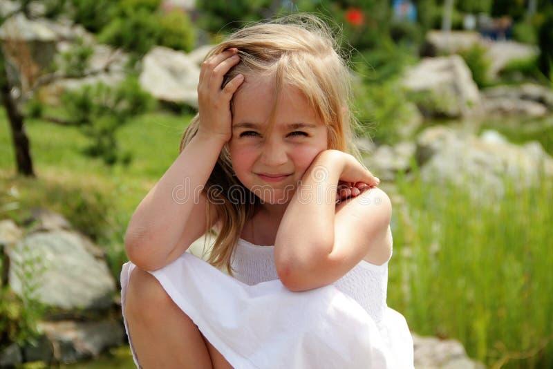 Beautiful girl. Portrait close-up of child models emotion good mood stock photography