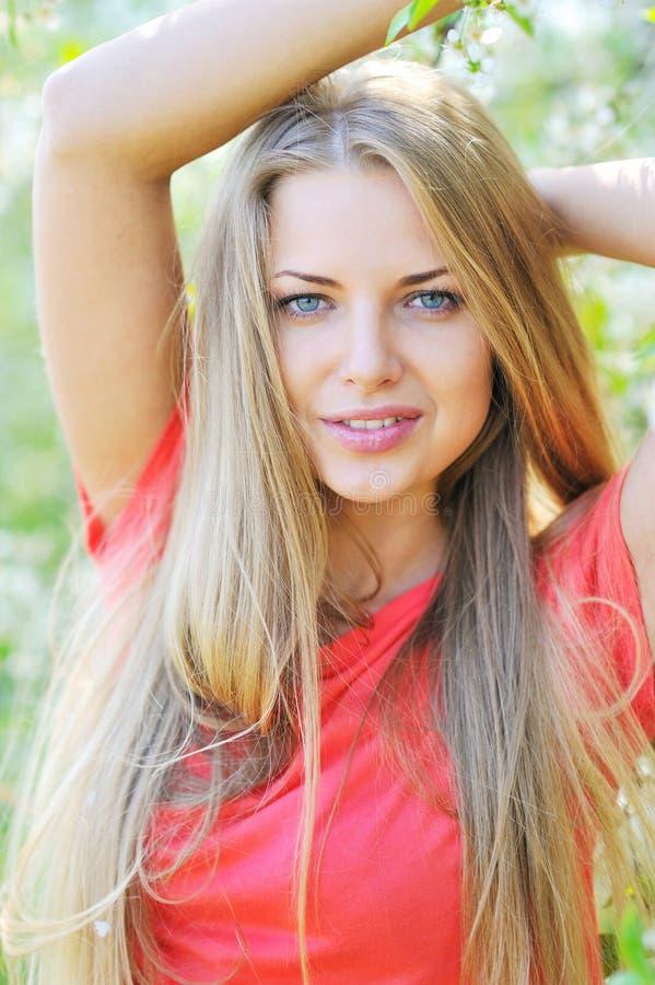 Beautiful girl portrait - closeup. Beautiful girl face portrait - closeup stock images
