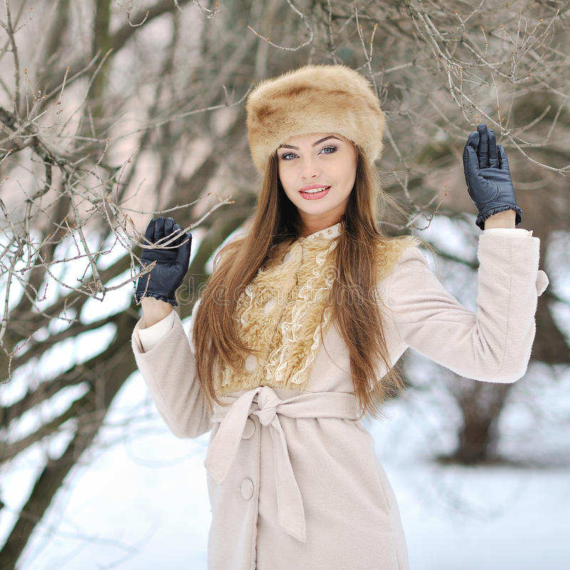 Free Beautiful Girl Portrait In Winter Royalty Free Stock Photos - 34954258