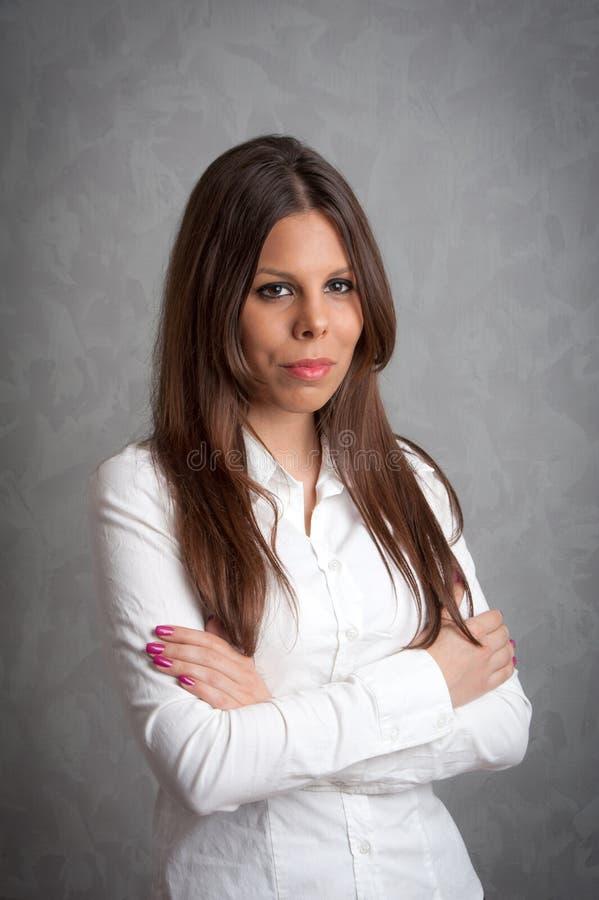 Beautiful girl portrait. Photo of beautiful girl in studio stock photography