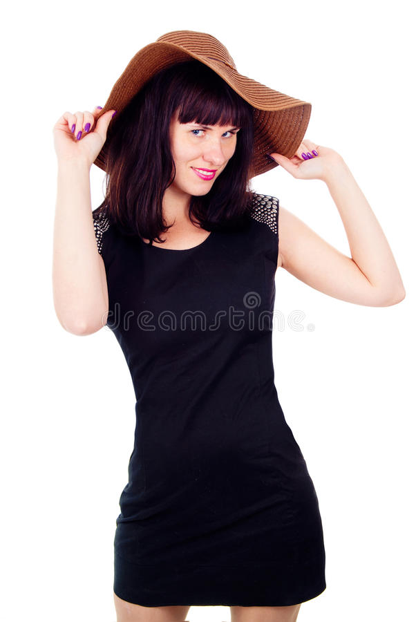 Download Beautiful Girl Poses In The Hat Stock Photo - Image: 27547104