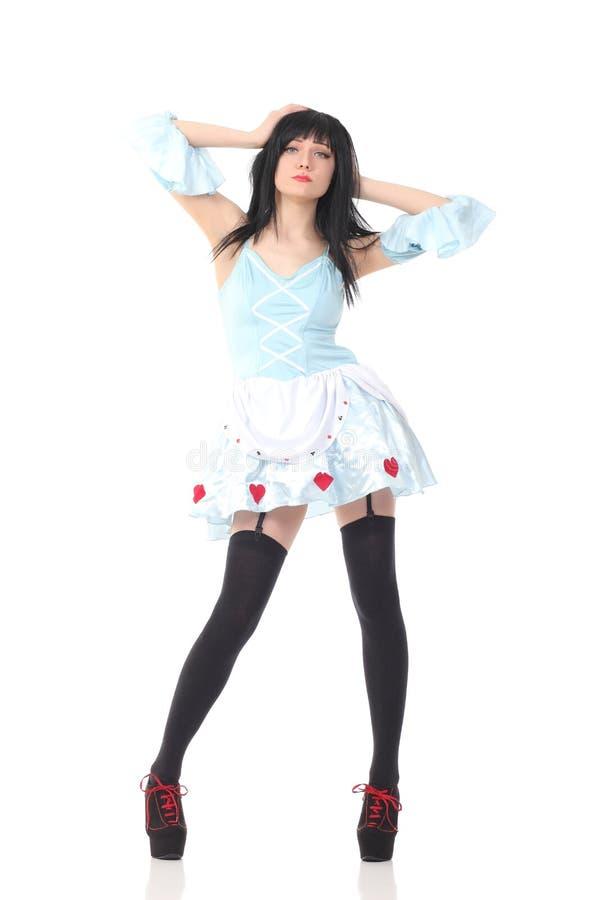 Beautiful girl posing stock photos