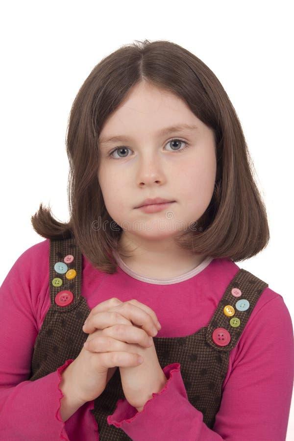 Download Beautiful Girl Praying With Open Eyes Stock Image - Image: 29629569