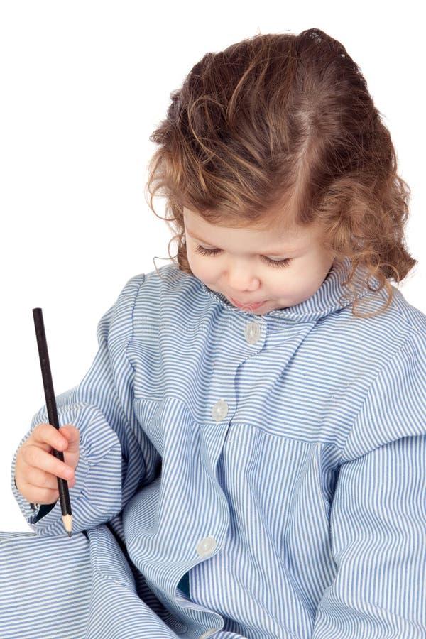Download Beautiful Girl With Preschool Uniform Stock Photo - Image: 17881740