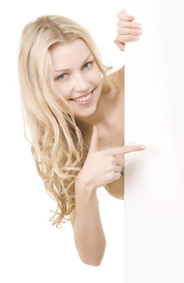 Beautiful girl with pretty smile royalty free stock photography