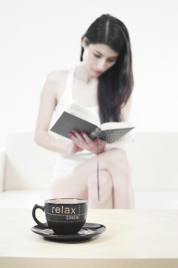 Download Beautiful girl reading stock photo. Image of lady, attractive - 17918566
