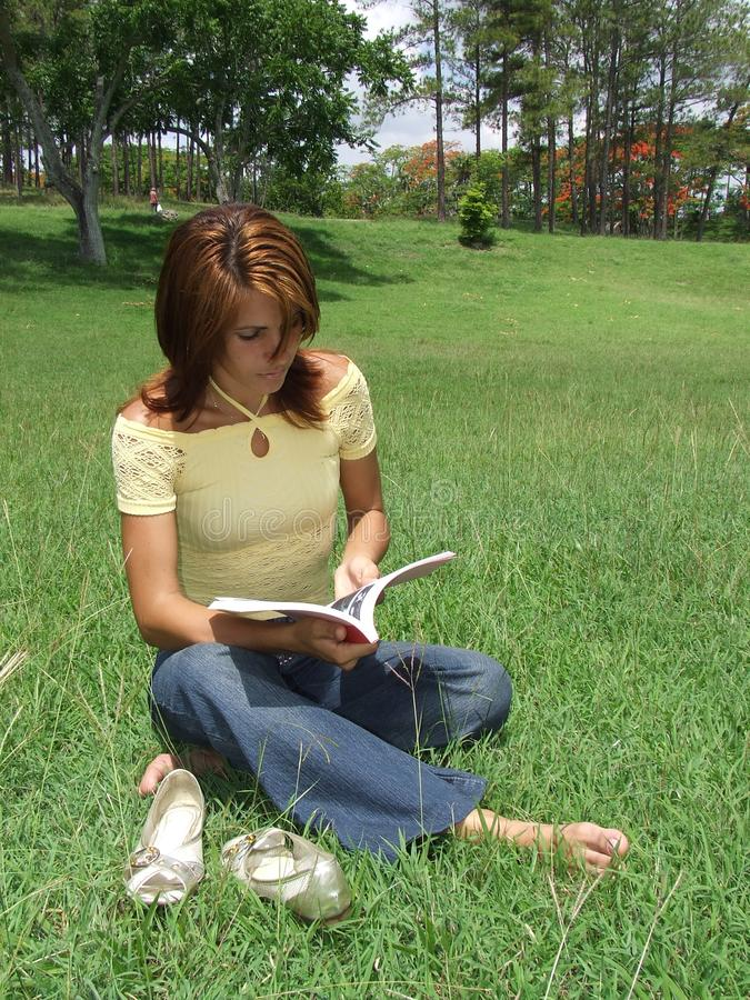 Download Beautiful Girl Reading A Book Stock Photo - Image: 5504398