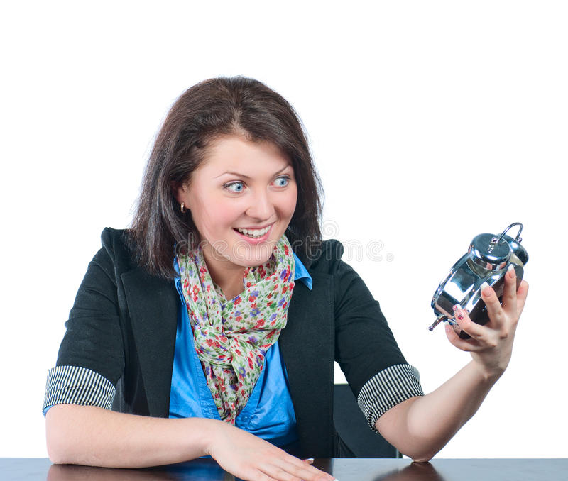 Download The Beautiful Girl Reminds For Remained Time Stock Image - Image of manager, caucasian: 19442799