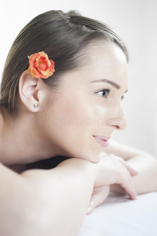 Beautiful Girl Resting At Massage Stock Images