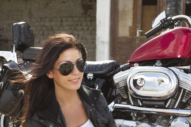 Download Beautiful girl rider stock image. Image of freedom, expression - 25762035
