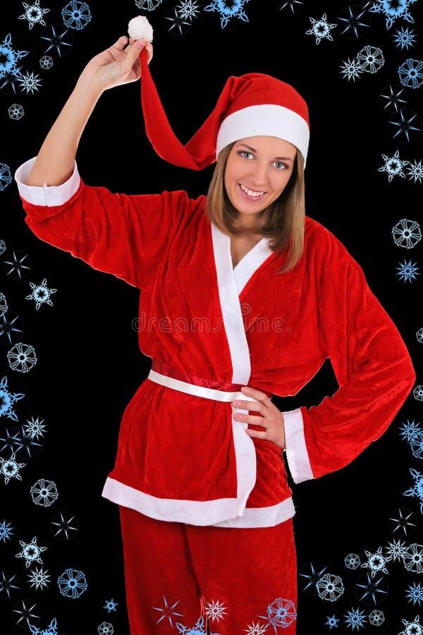 Beautiful Girl In Santa Clause Costume Royalty Free Stock Image