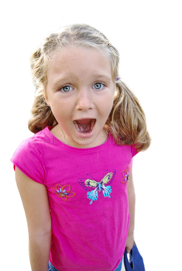 Download Beautiful Girl Screaming Expression Stock Image - Image: 36154665