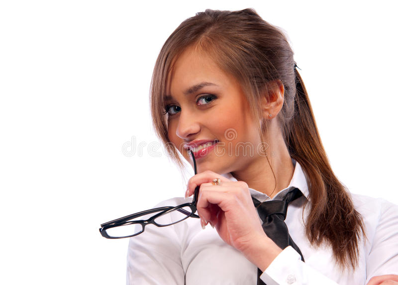 Download Beautiful Girl Secretary With Glasses Stock Photo - Image: 22763398