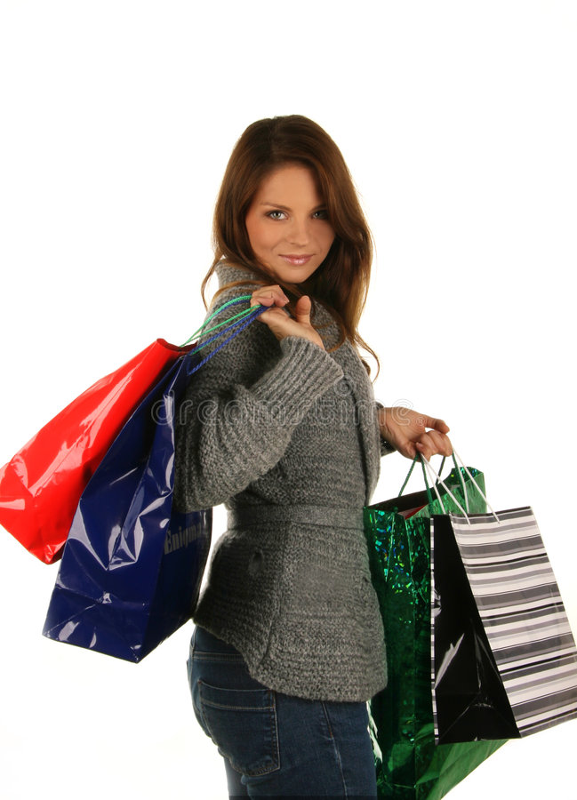 Download Beautiful Girl With Shopping Bag Stock Photo - Image: 6530342