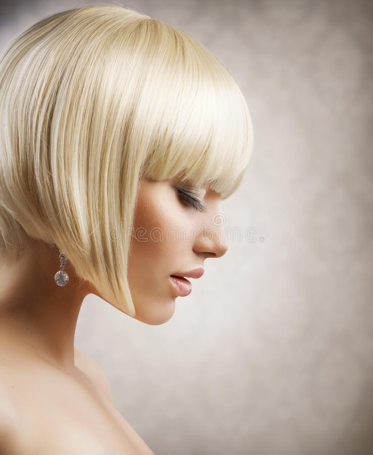 Download Beautiful Girl With Short Blond Hair Royalty Free Stock Photography - Image: 25142247