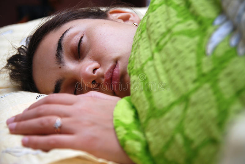 Download Beautiful girl sleeping stock photo. Image of calm, face - 11698518