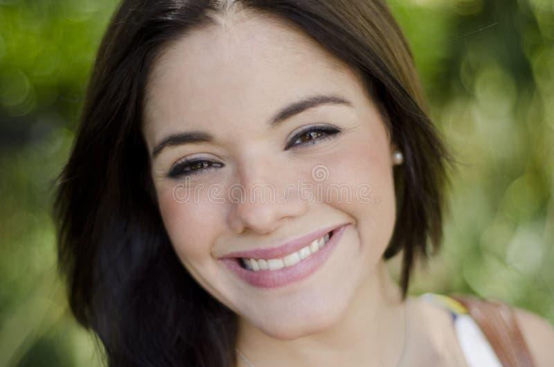 Beautiful girl smiling stock photos