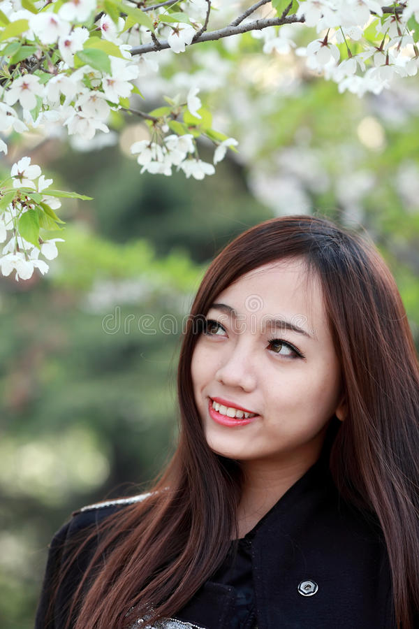 Download Beautiful girl in spring stock image. Image of girl, festival - 30524975