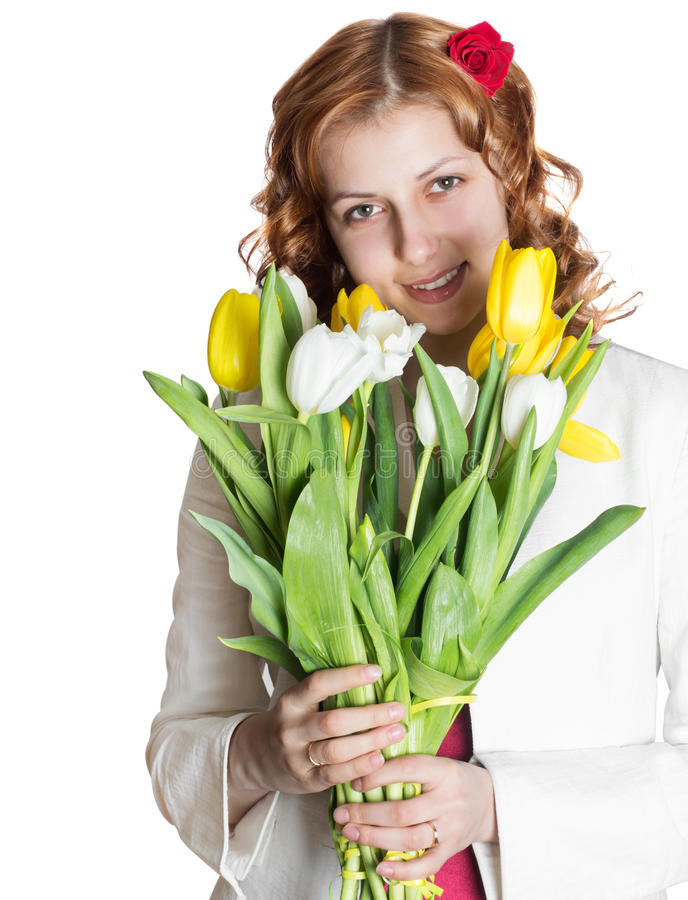 Download Beautiful Girl With Spring Flowers Stock Photo - Image: 29259426