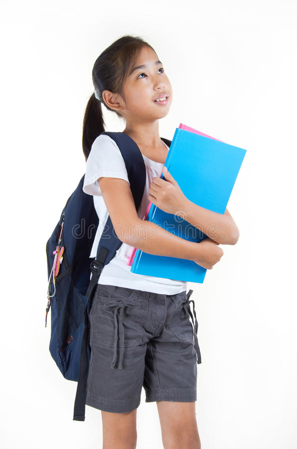 Beautiful Girl Student royalty free stock photography