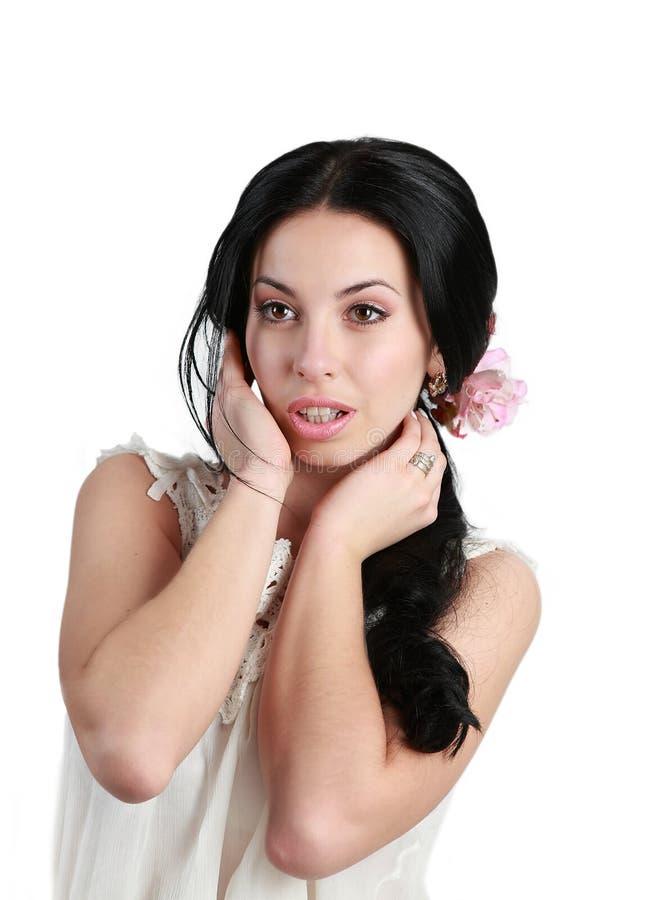 Beautiful girl studio royalty free stock photography