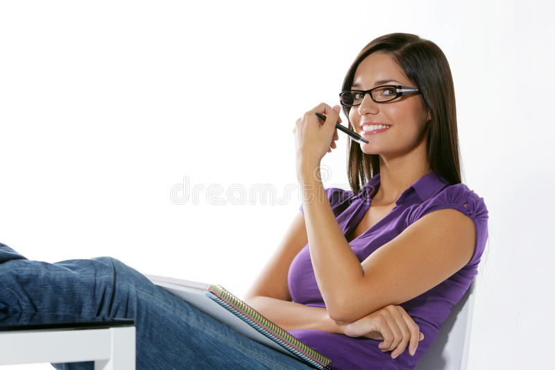 Download Beautiful Girl Studying Stock Image - Image: 11130761