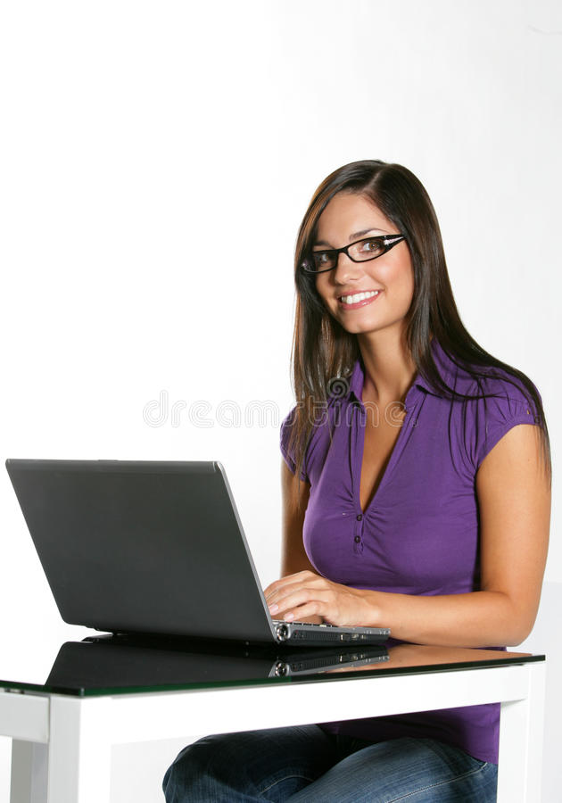 Beautiful girl studying royalty free stock image