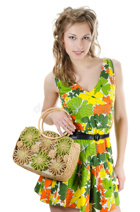 Download The Beautiful Girl In A Summer Dress Stock Photo - Image: 24111310