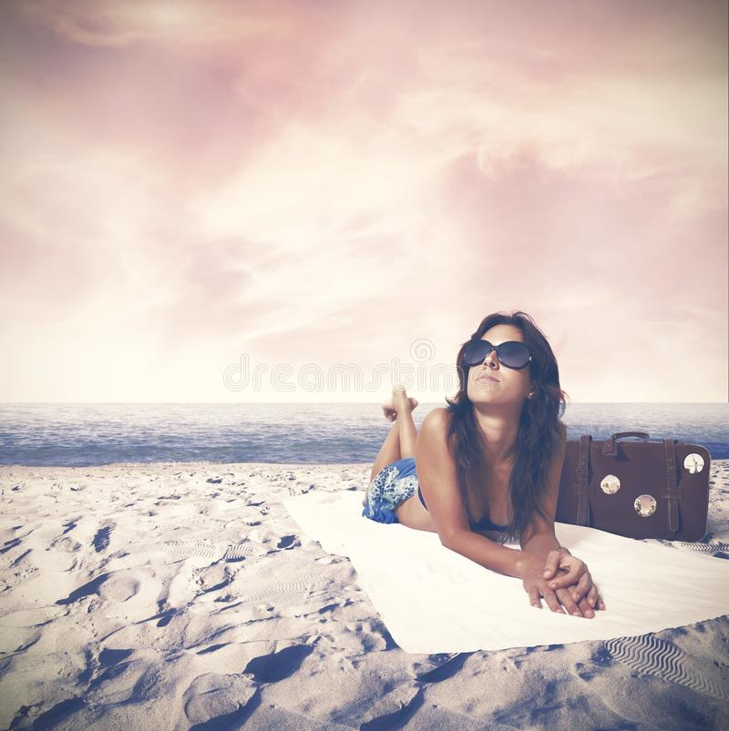 Download Summer relax stock photo. Image of beauty, glasses, concept - 30298098