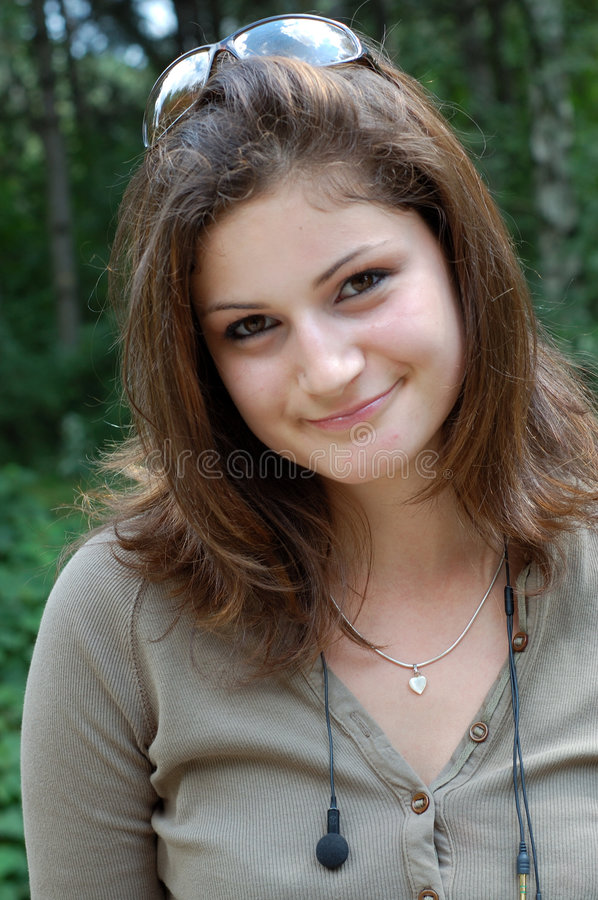 Beautiful girl with sunglasses stock photography