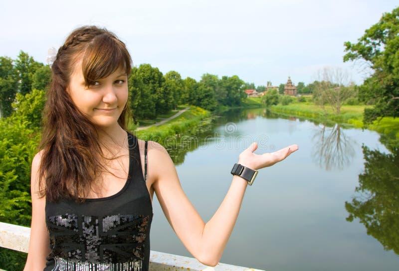 Beautiful girl in Suzdal city